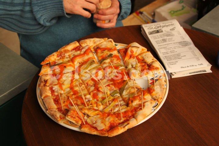 Pizza de calçots