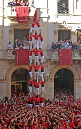 Quatre de nou sin forro descargado en la Plaza del Blat de Valls, el día 27 de octubre de 2013