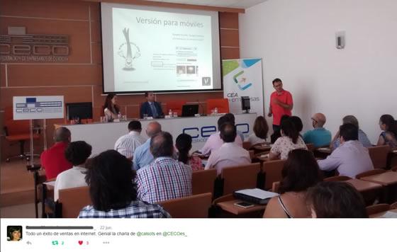 Instante de la presentación de Calsots.com en Córdoba, ahora que comienza la temporada de calçots