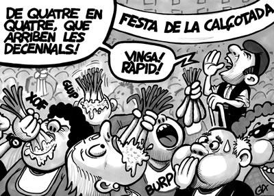 Chiste sobre la fiesta de la calçotada en el diario El Vallenc