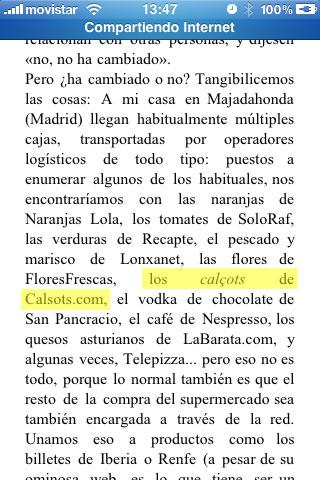 Calçots de calsots.com en el libro de Enrique Dans