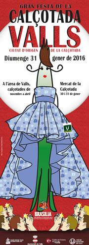 Cartel de la Fiesta de la Calçotada 2016