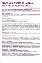 Página 2 del folleto de la fiesta de la calçotada