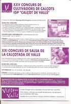 Página 4 del folleto de la fiesta de la calçotada