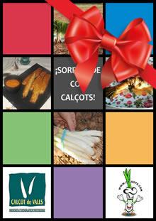 Portada del libro de recetas con calçots de Calsots.com