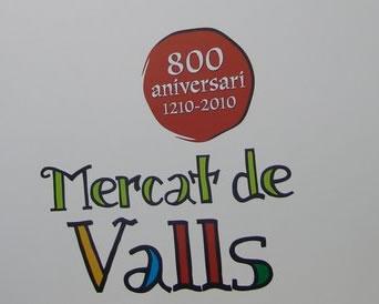 Cartel del evento 800 años de mercados en Valls