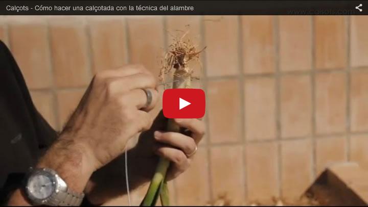 Vídeo - Cómo hacer una calçotada con la técnica del alambre