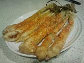 Calçots en tempura - Molt fàcil i molt cruixent