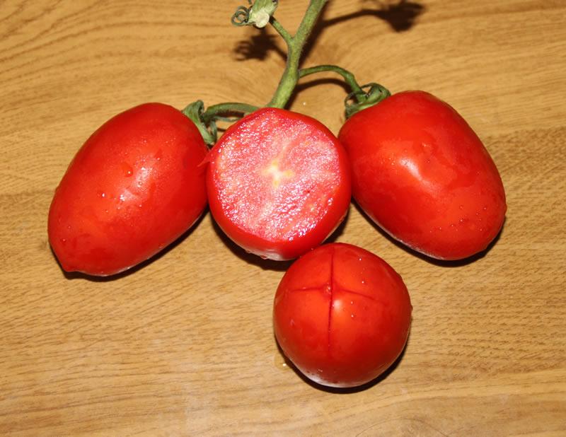 Tomates listos para ser escalibados. Son la base de la salsa de cal�ots.