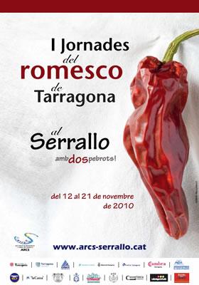 Cartel de las I Jornadas del Romesco de Tarragona