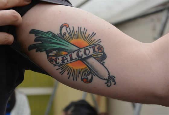 Tatuaje de calçots de Abel Edo