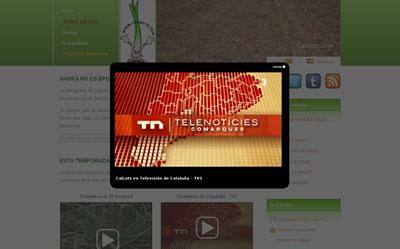 Los calçots de calsots.com en TV3